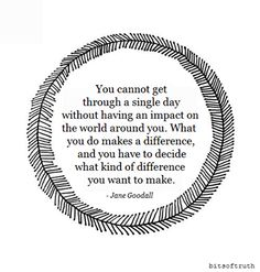 Be a difference maker!