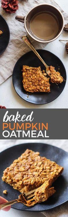 Baked Pumpkin Oatmeal | the blissful balance More