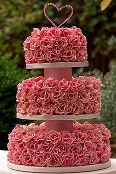 Tiered Roses Cake
