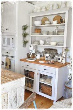 40 Best Rustic Farmhouse Kitchen Cabinets Ideas – Best Home Decorating Ideas Pottery Barn Kitchen, Farmhouse Kitchen Cabinets, Kitchen Cupboards, White Cupboards, Farmhouse Kitchens, Yellow Cabinets, Kitchen Soffit, White Appliances, Kitchen Walls