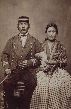 One of six commercially-produced cartes-de-visite portraits of Aboriginal First Nations peoples of British Columbia, 1860s
