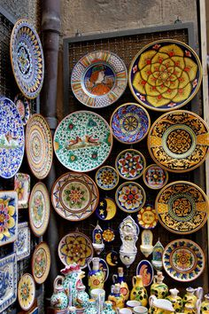 Orvieto, Italy...known for their beautiful pottery. I serve all my meals in Deruta pottery and dinnerware.