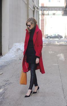 Coat, leggings leather