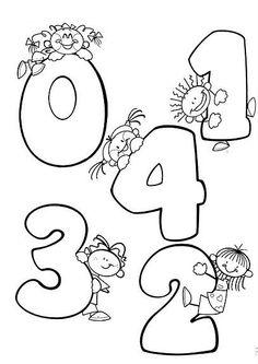 Moldes de Números para a Salinha   Pra Gente Miúda