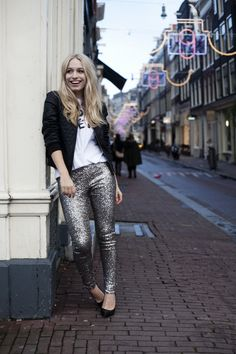 Bomber and sequins | This chick's got style // black heels