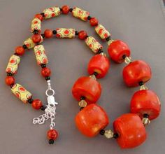 Fat Chunky Red Coral Necklace Wild Handcrafted Jewelry