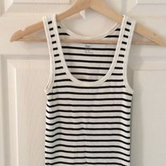 GAP Favorite Tank Black and white. Cotton. GAP Tops Tank Tops