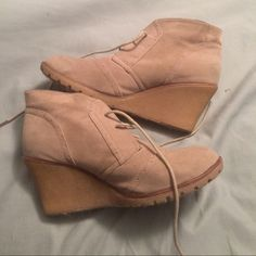 Tan Wedge Booties. 10 $3,$4,$5 ITEMS MUST BE BUNDLEDPrices in this Closet are LOW AND FIRM. No bargaining needed Makes it so much easier to just offer low low prices from the start ASK ALL THE QUESTIONS YOU WANT BEFORE PURCHASING. BUYER AND SELLER AGREE ALL SALES ARE FINAL. TRADE VALUE IS $5.00 HIGHER THAN LISTED SALE PRICE!! Chloe Boutin Shoes Ankle Boots & Booties