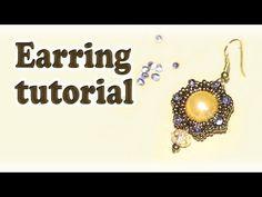 BeadsFriends: earring tutorial - How to make beaded earrings - YouTube