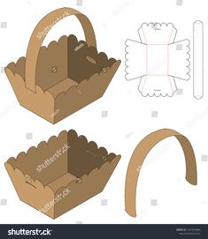 Find Box Packaging Die Cut Template Design stock images in HD and millions of other royalty-free stock photos, illustrations and vectors in the Shutterstock collection. Cardboard Box Crafts, Foam Crafts, Diy Arts And Crafts, Diy Craft Projects, Candy Box Template, Origami Templates, Box Templates, Paper Crafts Magazine, Flower Box Gift