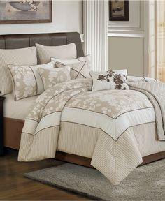 cream, beige and brown color scheme for bedroom? Lara 10 Piece Comforter Sets - Bed in a Bag - Bed & Bath - Macy's