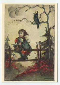 Vintage Hummel Postcard - Nr. 5327