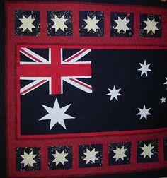 machinequilter: Progress Down Under Flag Quilt, Quilt Blocks, Quilting Designs, Quilt Design, Quilting Ideas, Happy Australia Day, Australian Flags, Quilt Of Valor, Blue Quilts