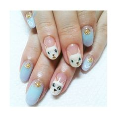 The Best Cat Nail Art On The Internet ❤ liked on Polyvore featuring nails