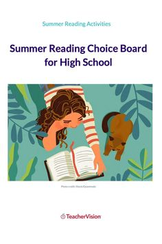 Pair your summer reading lists with this choice board of fun summer learning reading activities for high school students. Each activity combines a fun reading project or challenge with a reading or comprehension skill. Reading Projects, Reading Resources, Reading Activities, Reading Skills, Summer Activities, Teacher Resources, Reading Record, Summer Reading Lists, High School Students