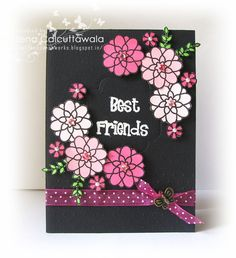 Have used Lawn Fawn Flutter by and Blissful Botanicals sets with colored cardstock!