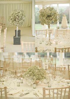 white wedding flowers gypsophilia