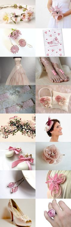 Pink Wedding by Artanis on Etsy--Pinned with TreasuryPin.com