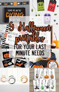 Halloween printables for your last minute Halloween needs!