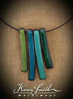 Lindo y simple collar esmaltado (Diy Necklace Collar)