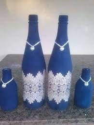 Resultado de imagen para pintura em garrafa de vidro