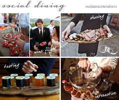 Wedding Food and drink: Social dining experiences, get people involved, wine and beer tasting, sharing platters.  #weddingtrend2014. Creative UK event designers and wedding planners Pocketful of Dreams predict the hottest wedding trends for 2014 on Love My Dress Wedding Blog.