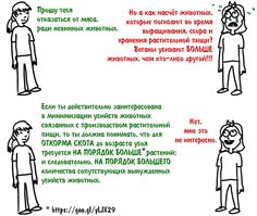 🔴 Если мы перейдём на веганство, животные неизбежно будут страдать при выращивании растений. В чём же разница между выращиванием и убийством животных для еды и их неумышленным убийством? - http://veg.1bb.ru/viewtopic.php?id=43#p210 В несжатом качестве: https://vk.com/doc223333527_461875960?hash=e6cbf1fe34c1fa8516&dl=e13062cb9b77c78cd5