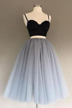 Customized Appealing Grey Party Dresses, Wedding Dress Two Piece, Party Dresses Black Wedding Dress Grey Wedding Dress Wedding Dress Two Piece Black Party Dresses Prom Dresses 2019 Prom Dress Black, Two Piece Homecoming Dress, Cute Homecoming Dresses, Prom Dresses Two Piece, Black Prom, Prom Two Piece, Graduation Dresses, Cute Dresses For Party, Black Party Dresses
