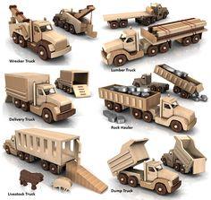 Build the Powerful Pete 6 Truck Fleet Full-Size Wood Toy Plan Set