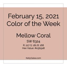 Your Color of the Week and energy reading for the week of February 15, 2021. Realize greater harmony and unity within and without …
