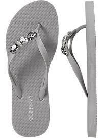 Women's Embellished Flip-Flops