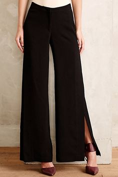 Front Slit Maxi Trousers - anthropologie.com