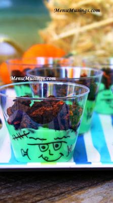"""Frankenstein Pudding Snack Cups!  Perfect for our """"snack helper"""" rotation at Kindergarten!"""