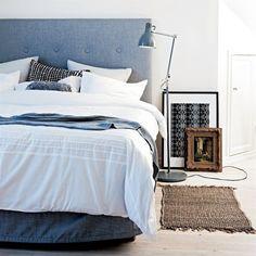 I like this ikea headboard White Wall Bedroom, Ikea Bedroom, Home Bedroom, Bedroom Decor, Bedrooms, Ikea Headboard, Headboards, Interior Architecture, Interior Design