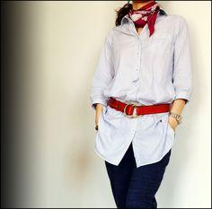 ★ロングシャツは太ベルトで。&ジャコウネコのカフェ DORILOGーー今日のおしゃれ、明日のデザイン。