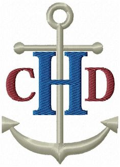 Nautical Anchor Monogram Fonts Machine Embroidery Designs-Set of boat anchor monogram fonts machine embroidery designs. You will receive a full set of Capital Monogram Letters with anchor and a set of corresponding left/right letters as shown. Name Embroidery, Sewing Machine Embroidery, Embroidery Bags, Embroidery Fonts, Machine Applique, Anchor Monogram, Applique Monogram, Monogram Fonts, Nautical Anchor