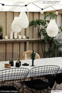 trädäck,uteplats,kaktus,utemöbler,lanterna