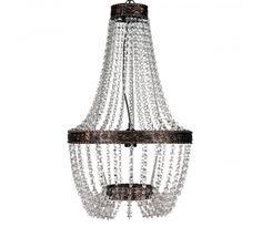 Pendant Ceiling Lamp Crystal Design Antique Silver Chandelier