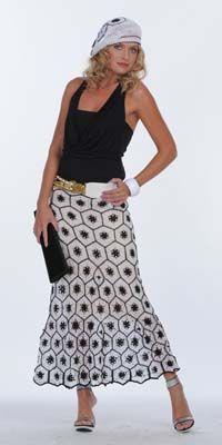 """La falda de los motivos de """"Gráficos"""" - crochet falda de ganchillo, tejer la falda esquema, manualidades escolares"""
