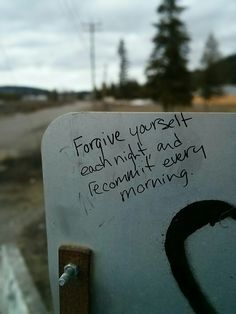 Learning to forgive myself. I will not be happy until I let go of my mistakes and accept the results of it.