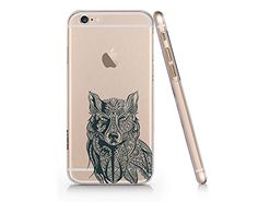 Henna Wolf Slim Iphone 6 6S Case, Clear Iphone 6 6S Hard Cover Case For Apple Iphone 6 /6S -Emerishop (VAE023.6sl) Emerishop