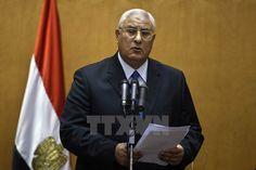 Adly Mansour Chức vụ Tổng thống Ai Cập Lâm thời Nhiệm kỳ3 tháng 7 năm 2013 – 1 tháng 6 năm 2014 Tiền nhiệmMohamed Morsi Kế nhiệmAbdel Fattah el-Sisi Thông tin chung Đảng pháiĐộc lập Sinh23 tháng 12, 1945 (70 tuổi) Cairo, Ai Cập