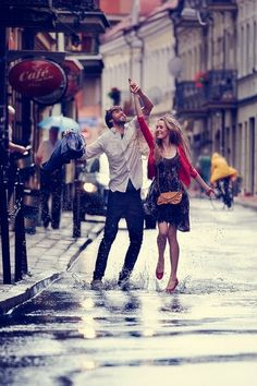 giggles, happy & dancing in the streets :)