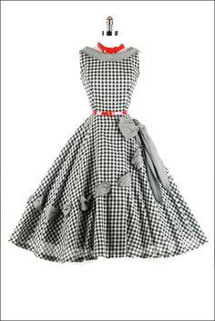 50s gingham dress!  I would have loved this!