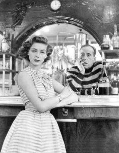 Lauren Bacall and Humphrey Bogart.    1954.