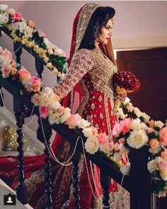 How To Look Your Best On Your Wedding Day. Photo by petramafalda On your big day, all eyes will be on you so you definitely want to look your best. If you can do your own makeup flawlessly then this Asian Bridal Dresses, Asian Wedding Dress, Pakistani Wedding Outfits, Indian Bridal Outfits, Pakistani Wedding Dresses, Wedding Attire, Indian Dresses, Desi Wedding, Desi Bride