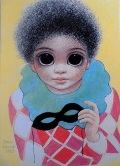 """Randy The Clown"" ~ Margaret Keane, 1983"