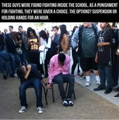 Punishment for fighting
