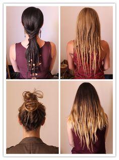 Vous avez envie de débuter l'aventure des dreads naturels? Néanmoins vous vous ne sentez pas prêt à assumer une coiffure 100% dreads! Ce style est idéal pour commencer à en porter ! Et, en plus c'est beau et fun! #dreads #dreadlocks #dreadslife #dreadlocksdaily #dreadshare #dreadsforwomen