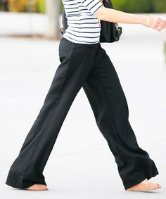 This Black Seaside Linen-Blend Pants is perfect! #zulilyfinds